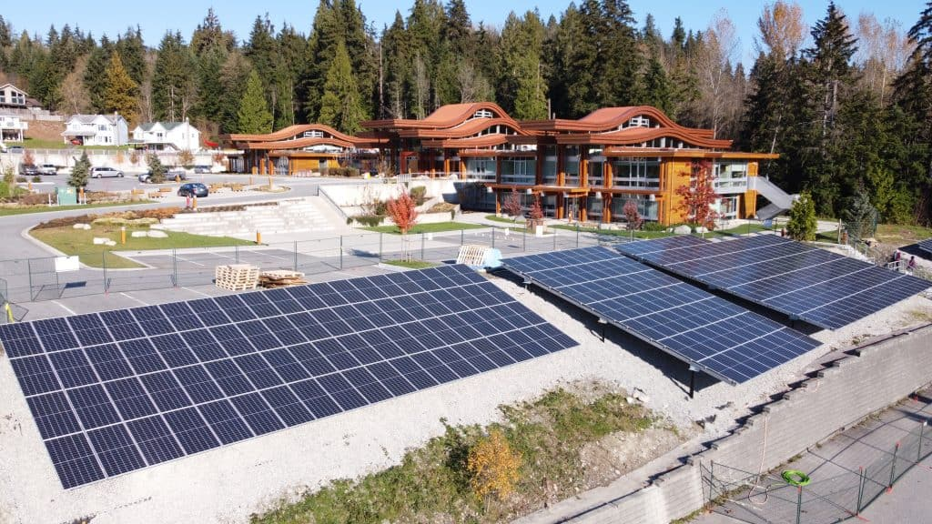 he new solar array powering the TWN Administration Building.